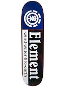 Element Black Floral Section Deck  8.375 x 31.125
