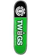 Element Twig Logo Black Deck 7.625 x 30.25