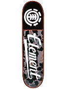 Element Wine Leaf Camo Script Deck  8.0 x 31.75