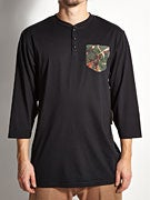 Expedition One Antler Camo 3/4 Sleeve Henley Shirt