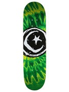 Foundation Star & Moon Tie Dye Green Deck  8.0 x 31.5