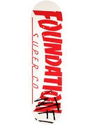 Foundation Thrasher WTF White Deck 7.875 x 31