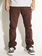 Fourstar Malto Straight Slim Twill Pants  Cocoa