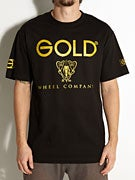 Gold Wheels Black Night T-Shirt