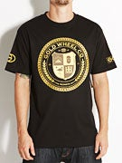 Gold Wheels Crest T-Shirt