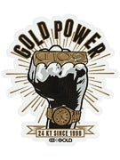 Gold Wheels Power Sticker