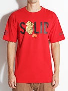 Gold Wheels Solid T-Shirt