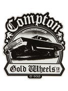 Gold Wheels Impala Sticker