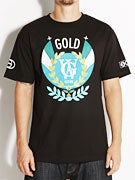 Gold Wheels Wreath T-Shirt
