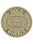 Gold Wheels Emblem Sticker  Gold