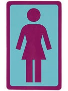 Girl Large OG Decal Sticker LT. BLUE