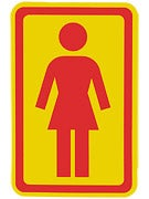 Girl Large OG Decal Sticker YELLOW/RED