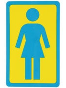 Girl Large OG Decal Sticker YELLOW