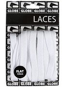 Globe Flat Shoe Laces  White
