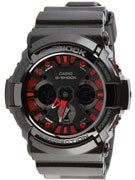 G-Shock GA-200SH-1A Watch  Black w/Black Face