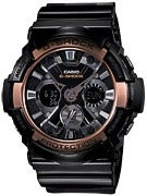 G-Shock GA-200RG-1 Watch Black Band w/Black Face