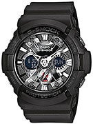 G-Shock GA-201-1A Watch  Black w/ Metallic