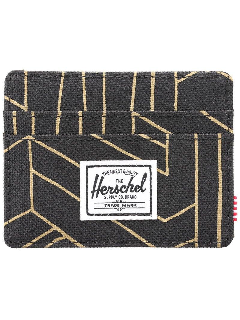 Herschel Charlie Card Wallet Gold Geo
