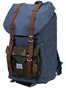 Little America Backpack Navy Crosshatch/Camo