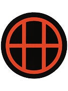 HUF Circle H Sticker Black