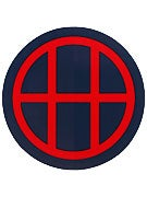HUF Circle H Sticker Navy