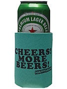 Happy Hour Cheers More Beers Coozie Teal