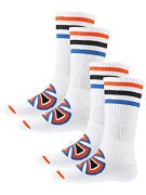 Independent Colored Stripes 2Pk. Crew Socks
