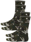 Independent Solo Cross 2 Pk. Crew Socks