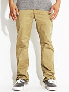 KR3W K Slim 5 Pocket Twill Pants  Gold Heath.