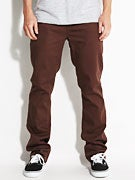 KR3W K Slim Bull Denim Jeans  Brown Soil