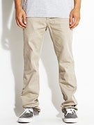 KR3W K Slim Chino Pants  Dark Khaki