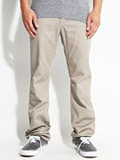 KR3W K Slim 5 Pocket Twill Pants  Dark Khaki