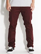 KR3W K Slim Chino Pants  Burgundy