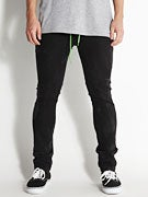 KR3W K Skinny Lizard Rehab Jeans  Dirty Black