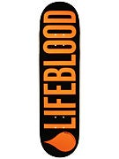 Lifeblood Logo Orange/Black Deck  8.25 x 32