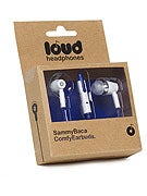 Loud Headphones Sammy Baca Earbuds  White/Blue