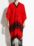 Loser Machine La Manta Blanket/Poncho Red/Black