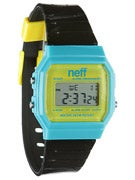 Neff Flava Watch  Cyan/Yellow/Black