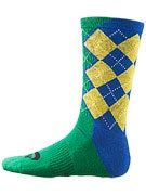 Nike SB Argyle Dri-Fit Socks Royal/Maize/Pine Green