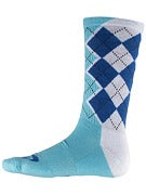 Nike SB Argyle Dri-Fit Socks White/Military Blue LG