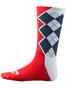 Nike SB Argyle Dri-Fit Socks White/Slate/Crimson