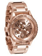 Nixon The 42-20 Chrono Watch  All Rose Gold