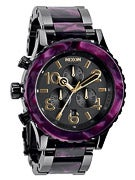 Nixon The 42-20 Chrono Watch  Gunmtal/Velvet