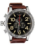 Nixon The 51-30 Chrono Leather Watch  Black/Brown