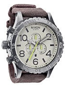 Nixon The 51-30 Chrono Leather Watch  Gunmetal/Brown
