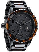 Nixon 51-30 Chrono Watch  Matte Black/Dark Tort
