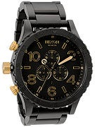 Nixon The 51-30 Chrono Watch  Matte Black/Gold