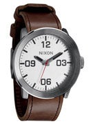 Nixon The Corporal Watch  Silver/Brown