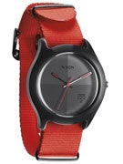 Nixon The Quad Watch  Neon Orange Nylon