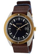 Nixon The Rover Watch  Navy/Brown/Gold